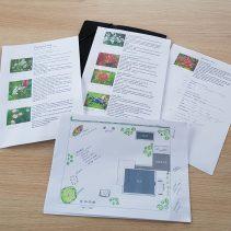 Haveplaner med planter